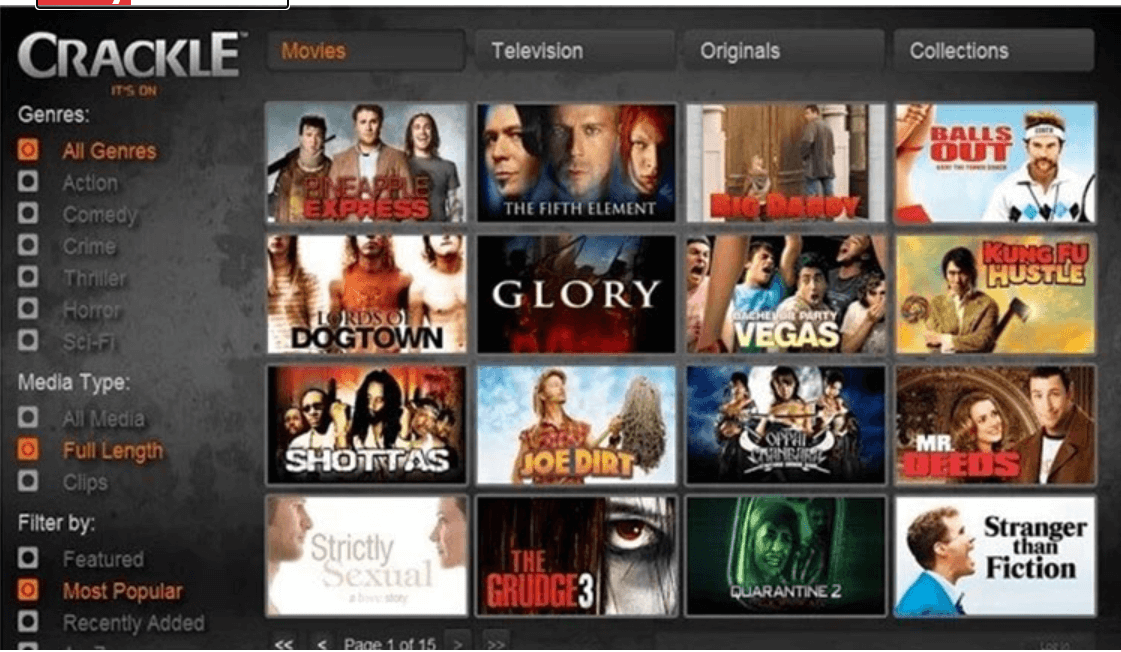 Sony Crackle- Best Movie Download Sites