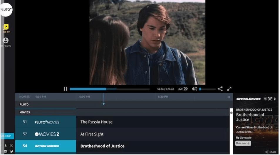 Pluto TV - Movie Download Sites