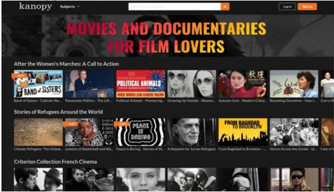Kanopy - Best Free Movie Download Sites