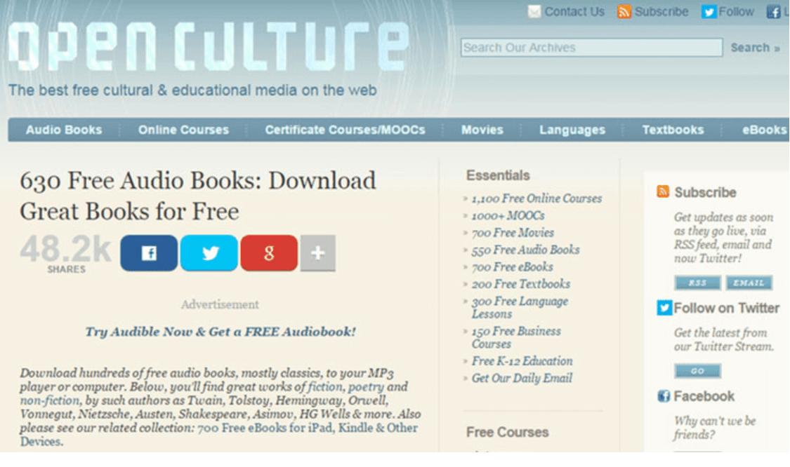 Open Culture - Best Movie Download Sites
