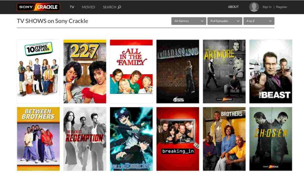 Crackle - Best TV Streaming Site