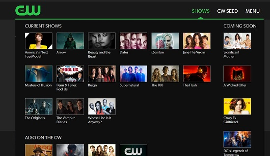 CW TV To Watch TV Shows Online