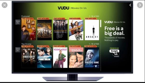 VUDU Movies on Us