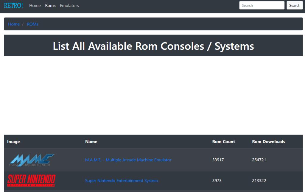 Retrosic - Best ROM Download Site