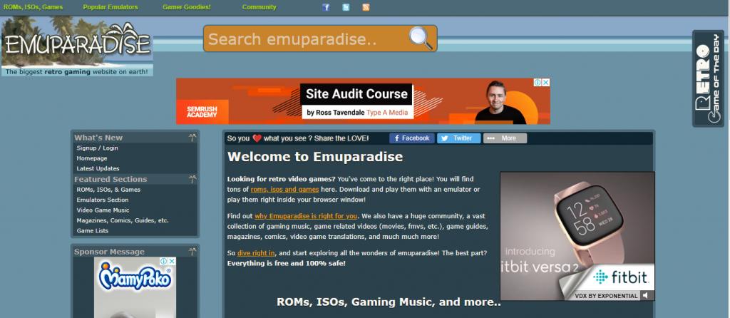 Emuparadise - Best ROMs and Emulators Site