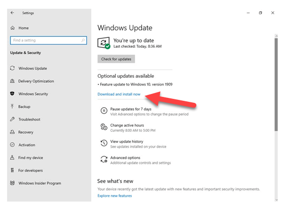 Latest Windows Updates & Device Drivers