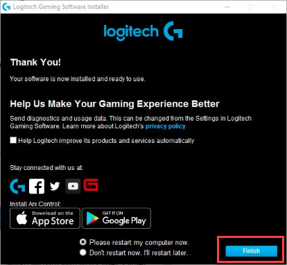 Logitech Gaming Device Functions