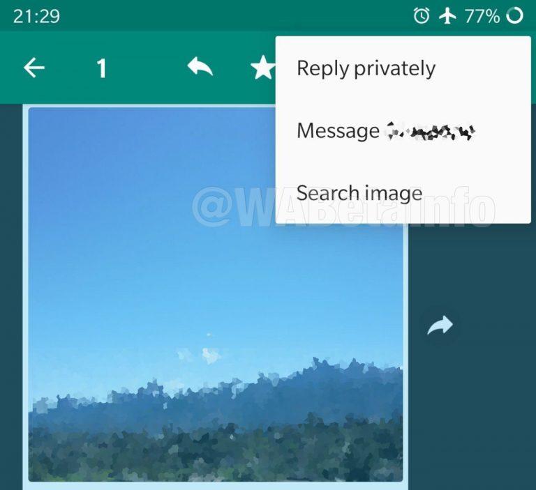 WhatsApp Reverse Image Search