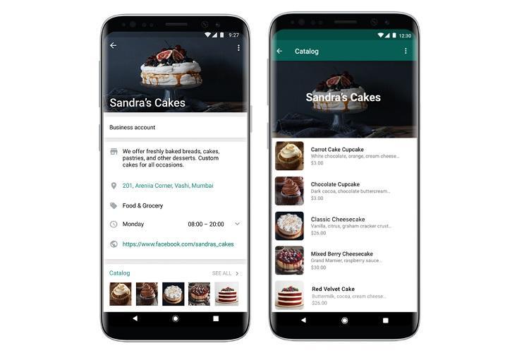 WhatsApp In-app shopping