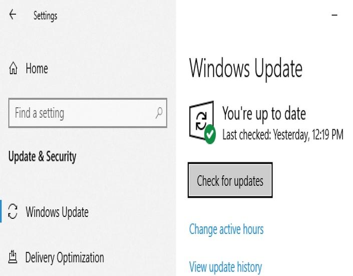 Update Windows step 3