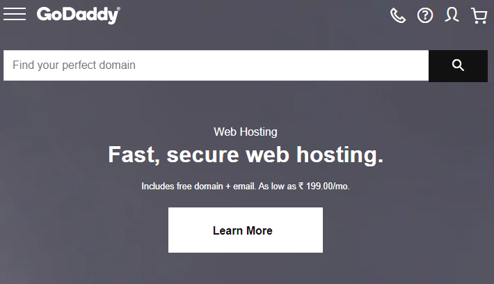 GoDaddy - Best Domain Registrar
