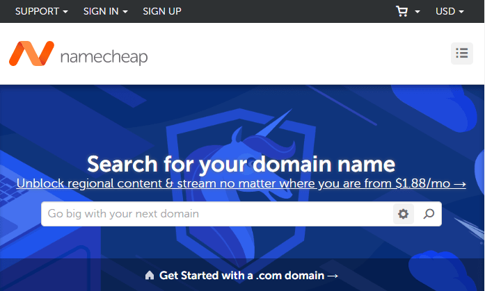 NameCheap - Famous Domain Name Registrar