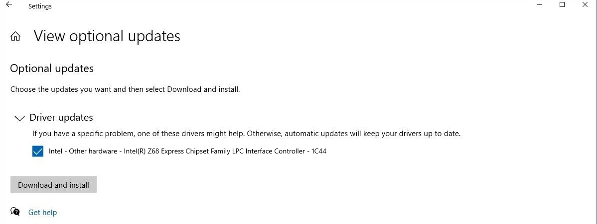 Windows 10 Driver Updates