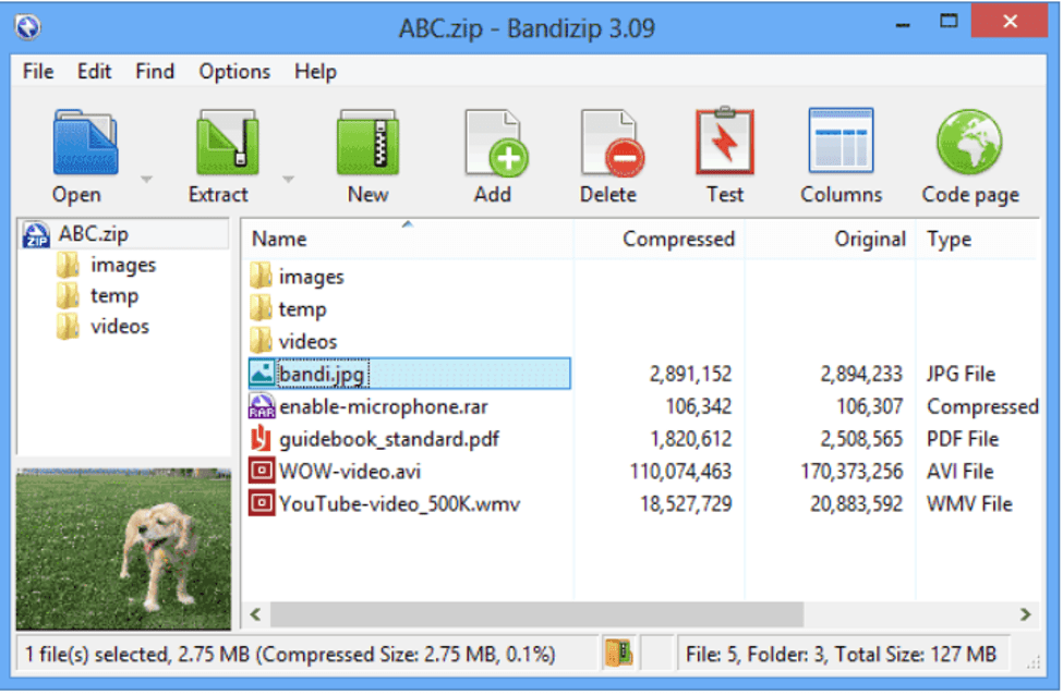Bandizip Compressing Software