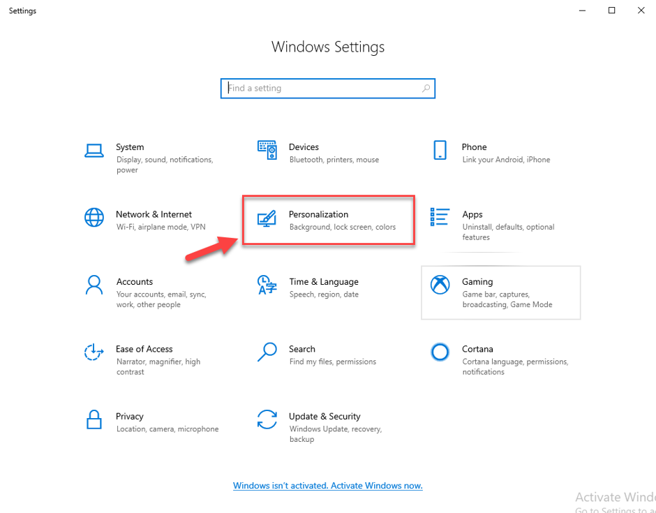 Screensaver Settings on Windows 10