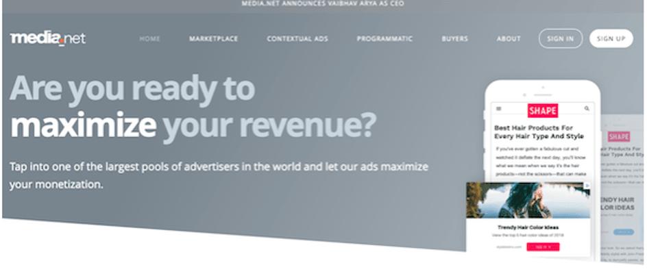 Media.Net - Google Adsense Alternatives