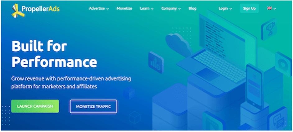Propeller Ads - Best Ad Publisher
