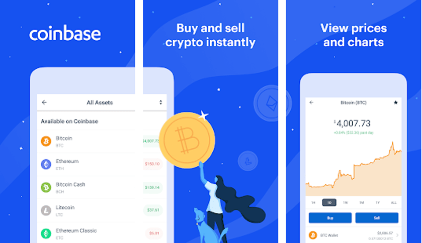 Coinbase - Best Cryptocurrency Apps