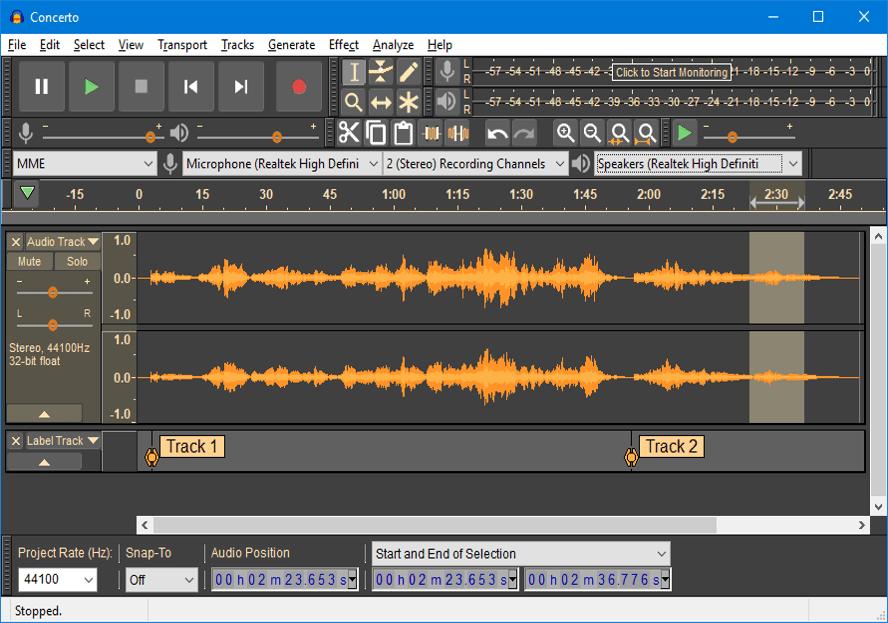 Best Audio Recording Software - Audacity