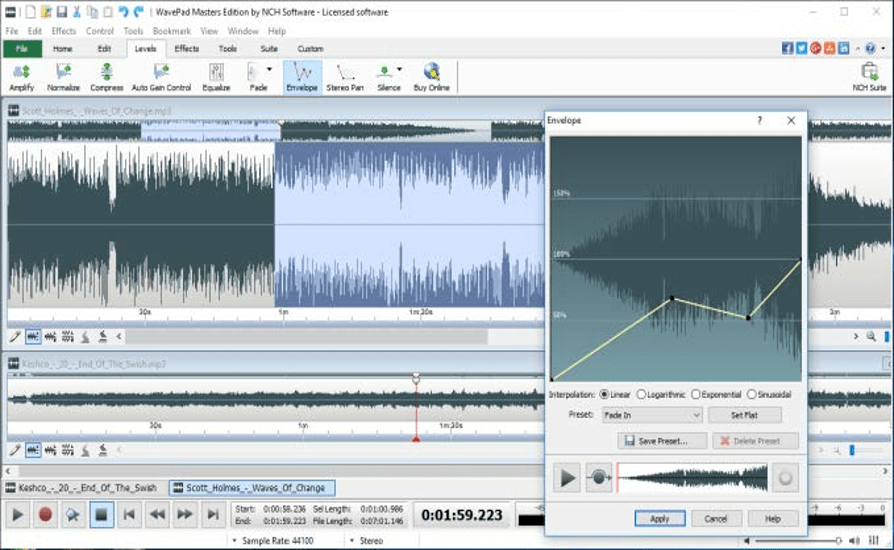 Audio Recording Software for Windows - WavePad