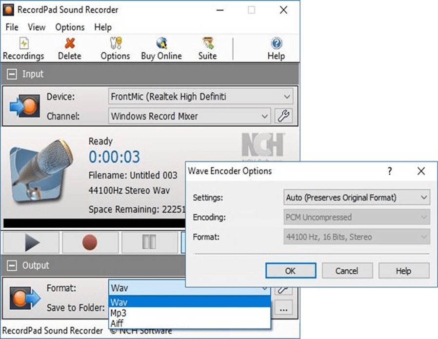 Best Audio Recording Tool - RecordPad