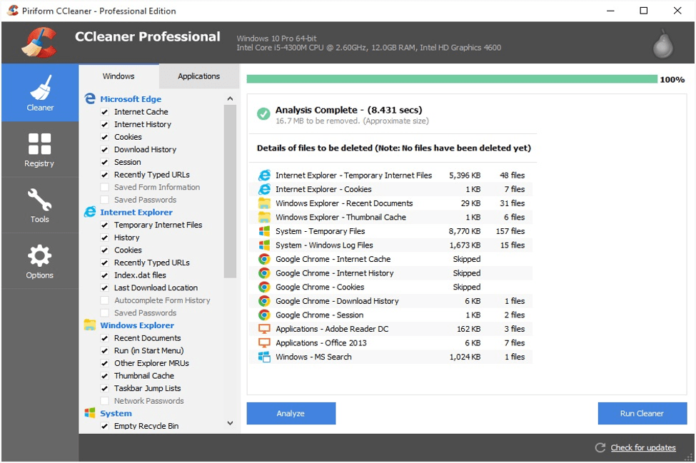 CCleaner - Best Junk File Cleaner