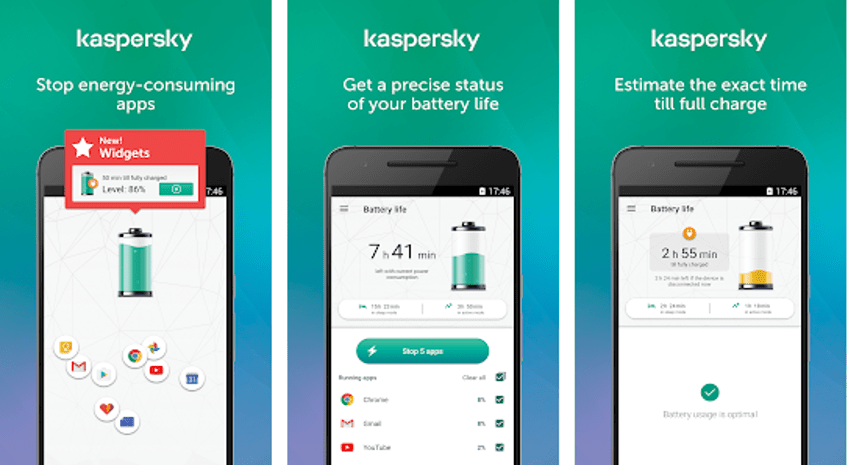 Best Battery Saver App - Kaspersky Battery Life