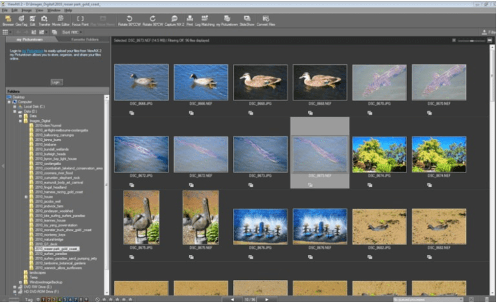 Best Photo Organizing Software - Nikon ViewNX-i