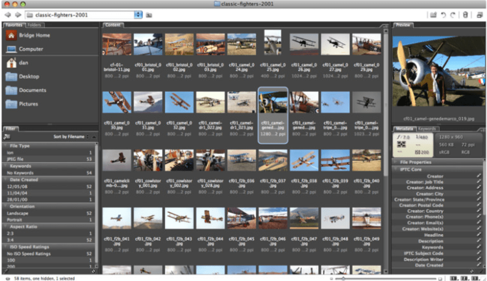Adobe Bridge - Free Picture Organizer Software