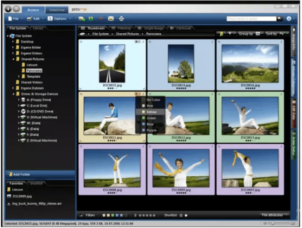 Pictomio photo qrganizing software