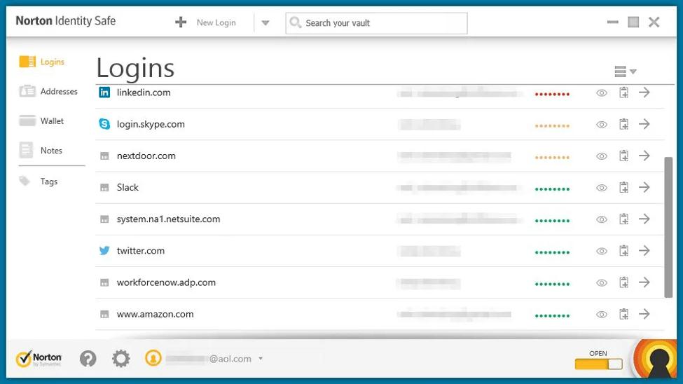 Best Password Manager Software - Symantec Norton Identity Safe
