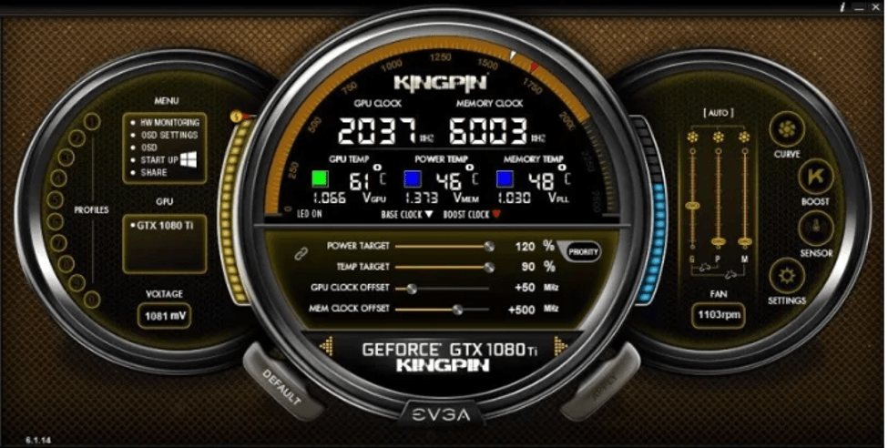 EVGA Precision X - Best GPU and CPU overclocking software for Windows 10