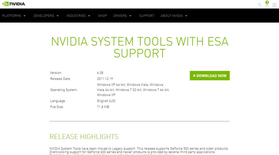 Best Overclocking Software - NVIDIA Inspector
