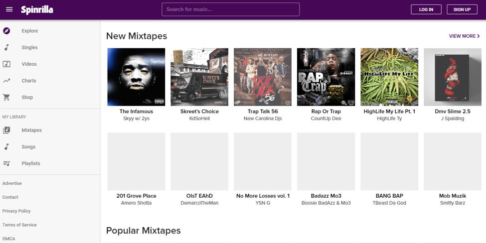 Best Free Music Download Site - Spinrilla