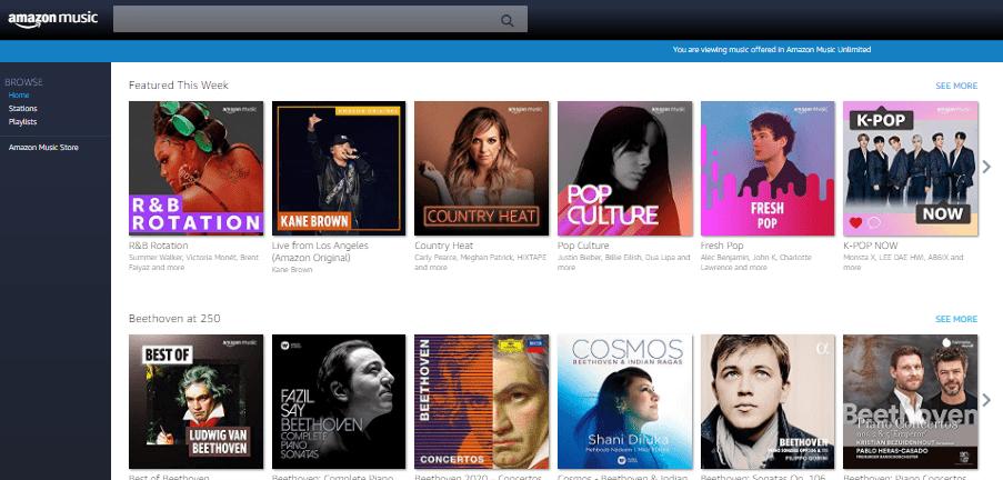 Best Music Download Sites - Amazon Music