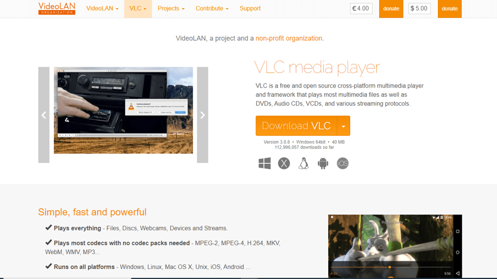 Best Media Players For Windows - VLC Media Player
