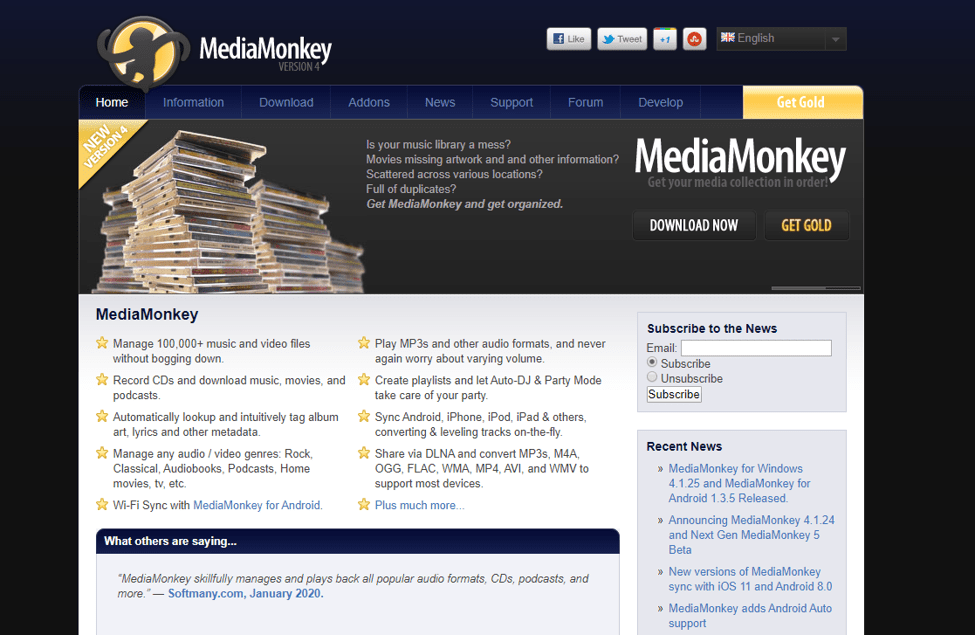 Best Free Media Players For Windows - Media Monkey