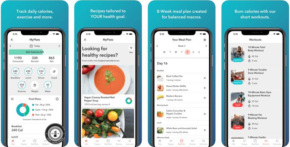 Best Healthy Meal Planning Apps - MyPlate by Livestrong