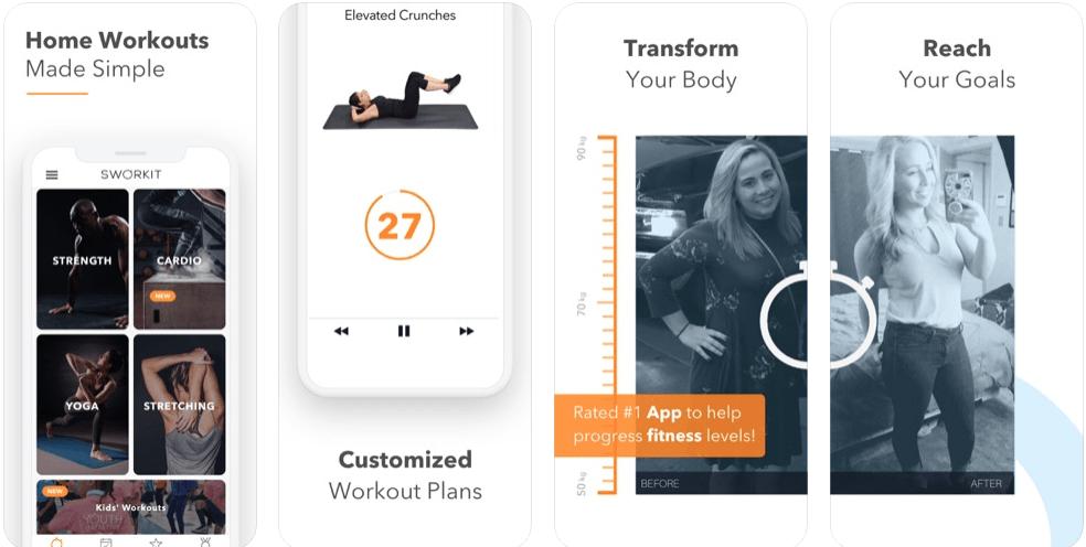 Best Workout Apps - Sworkit