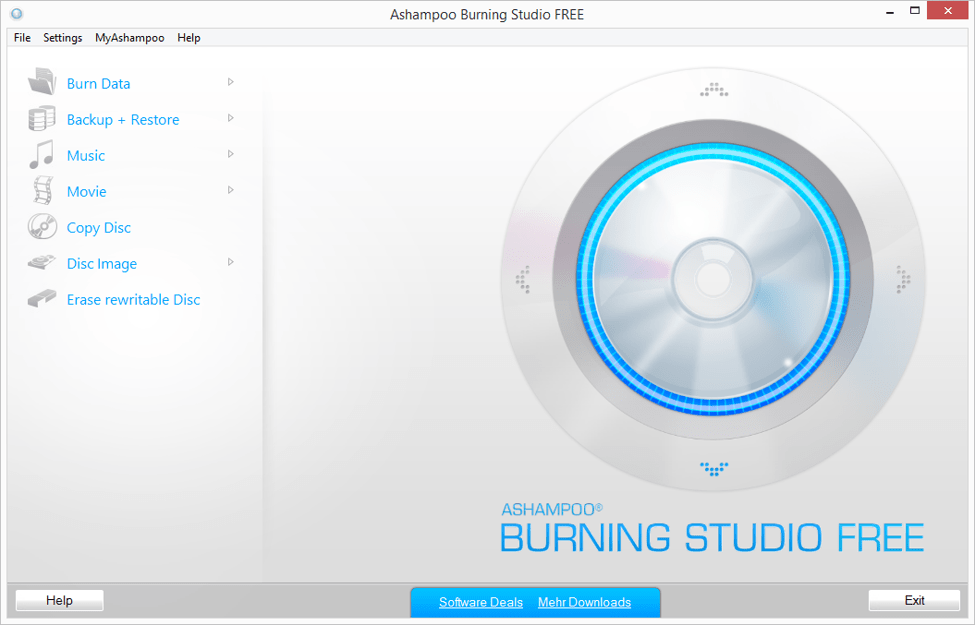 Best Free DVD Burning Software - Ashampoo Burning Studio