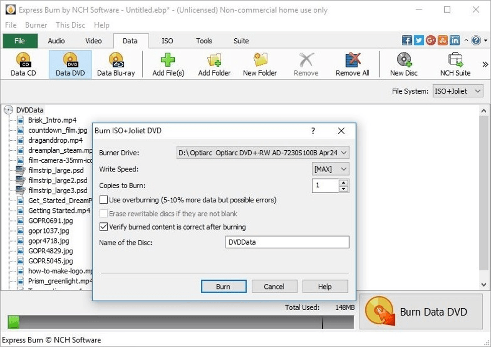 Best Free DVD Burning Software - Express Burn Plus Edition