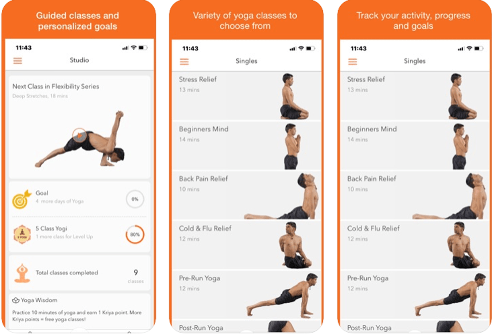 Best Yoga Apps - Track Yoga
