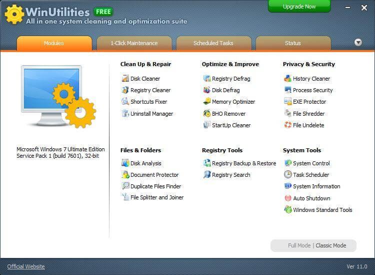 WinUtilities Free - Registry Cleaner Tool