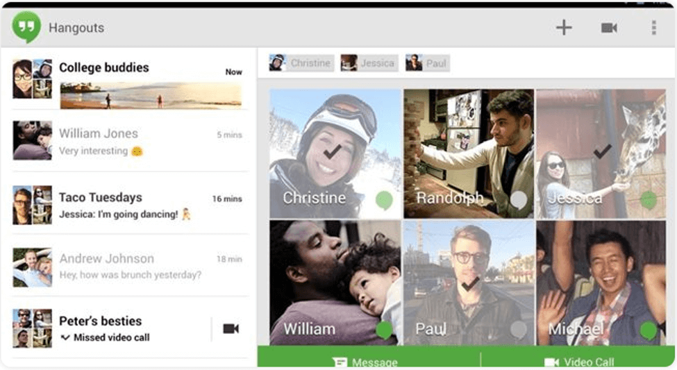 Best Video Call Software For Windows - Google Hangouts