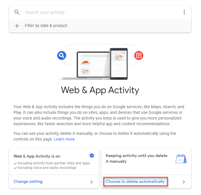 Delete Web & App Activity From Google Account