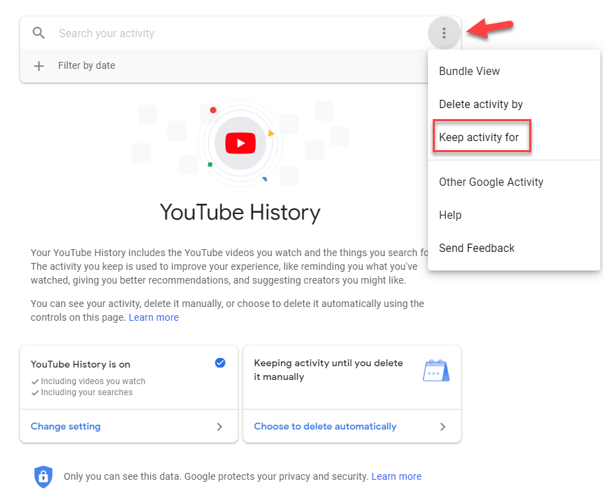 Delete YouTube History From Google Account