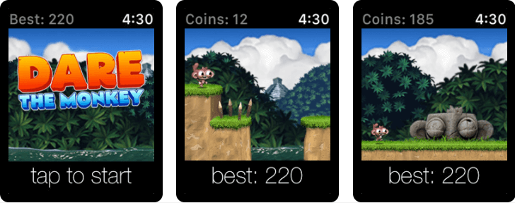 Dare The Monkey - Best Apple Watch Game