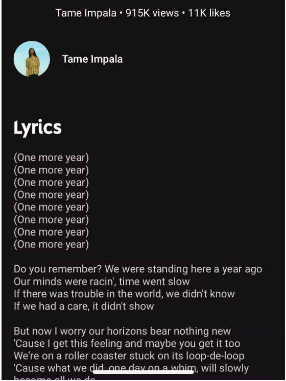 See Lyrics On Youtube