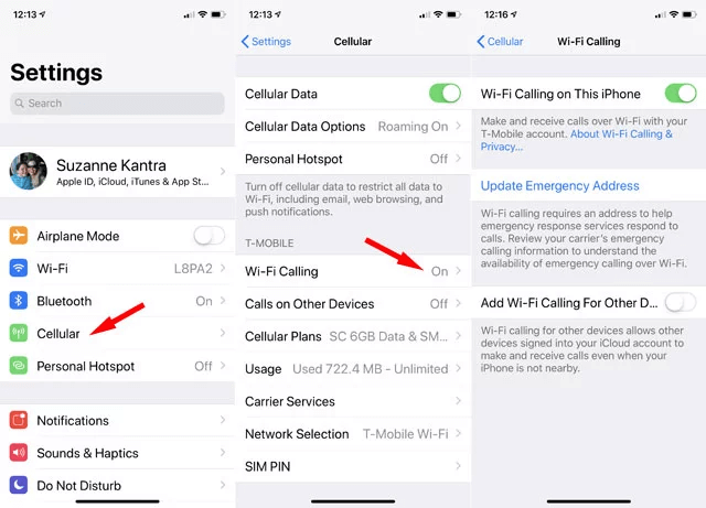 Enable WiFi Calling For iOS