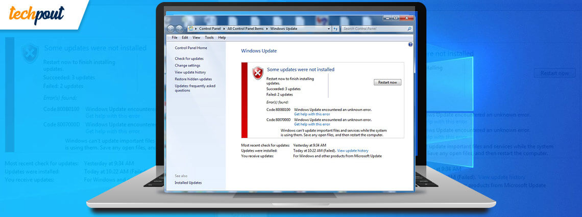 How to Fix Windows Update Problems